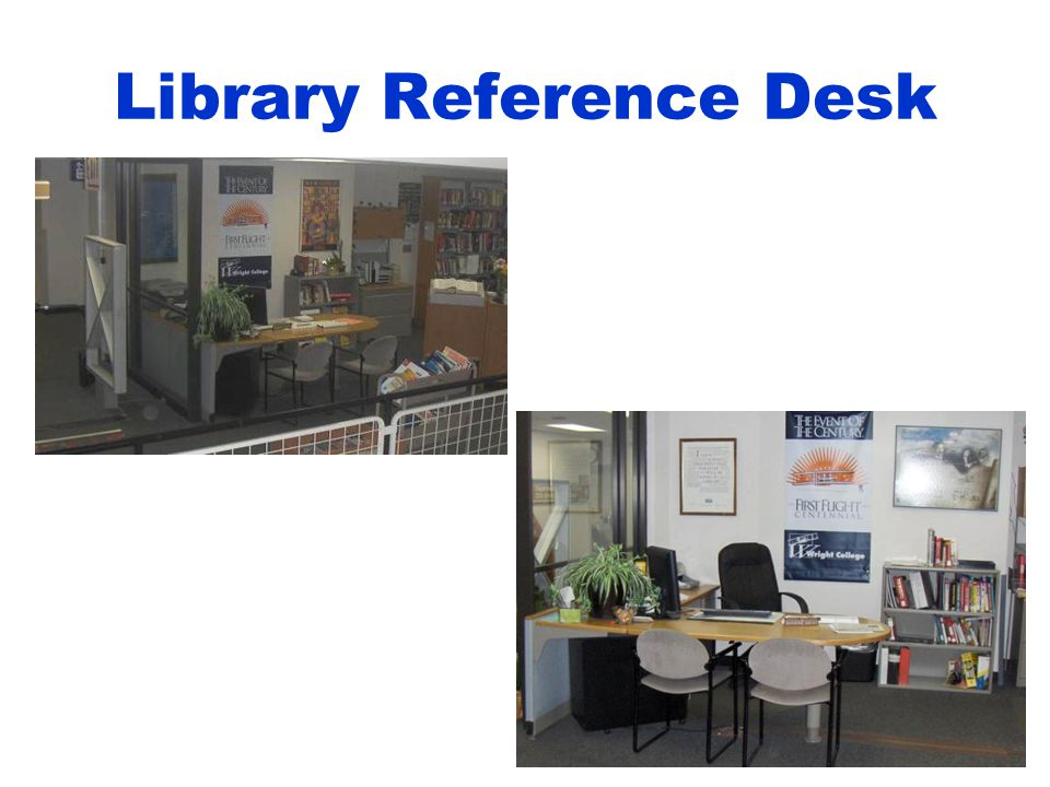 36 Library Reference Desk