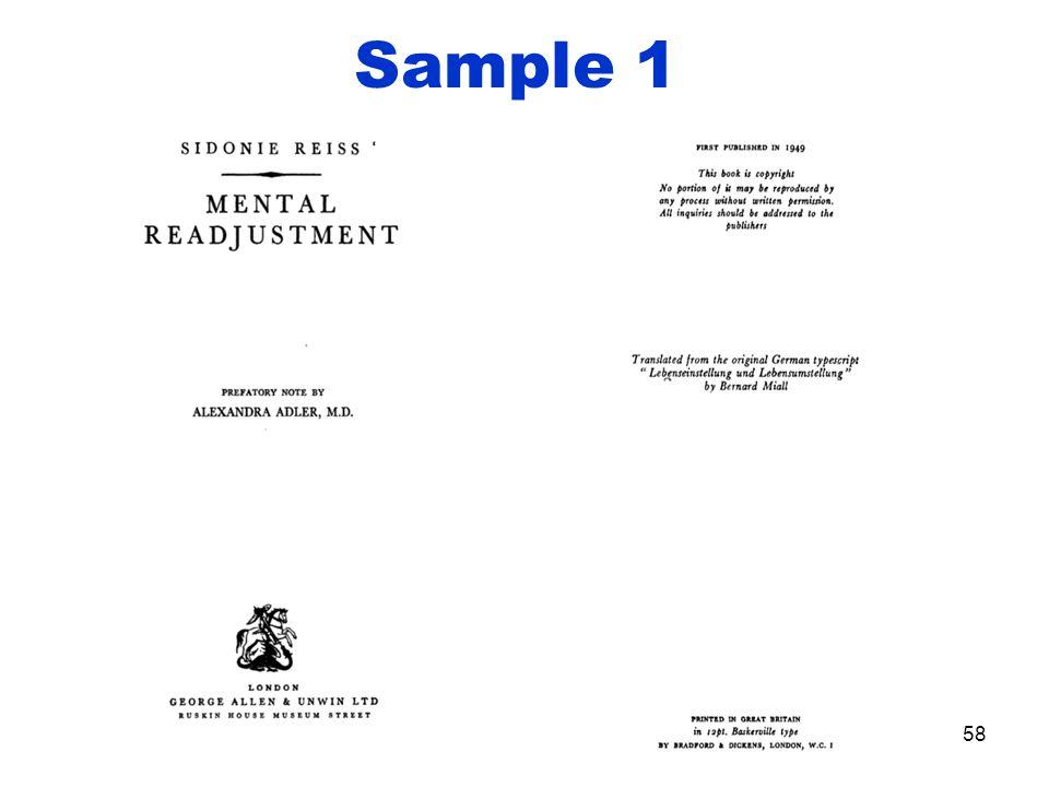 Sample 1 58