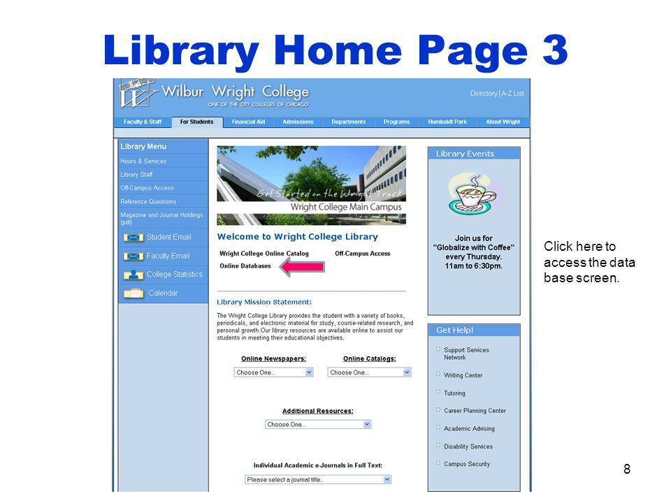 9 Search Screen Basic search screen.
