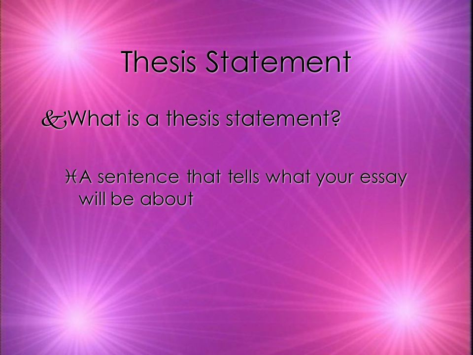 Thesis Statement kWhere is the thesis statement located in an essay.