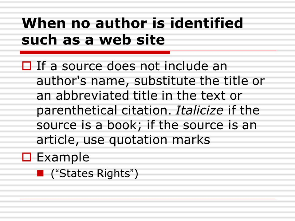 Writing your Works Cited Page  You start your Works Cited on a NEW PAGE.