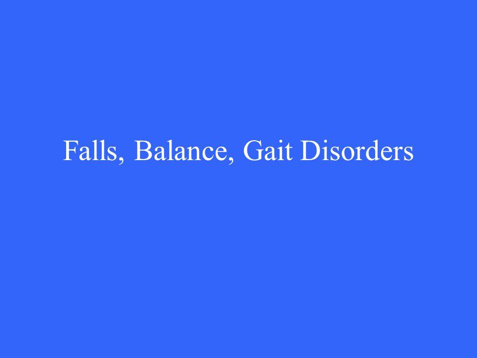 Falls, Balance, Gait Disorders