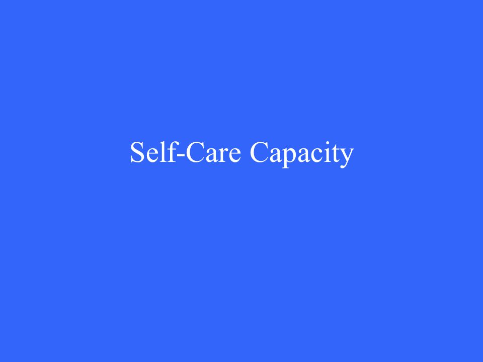Self-Care Capacity