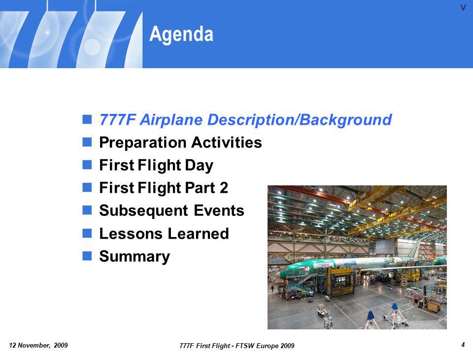 12 November, 2009 777F First Flight - FTSW Europe 2009 25 Aileron Vibration Data P