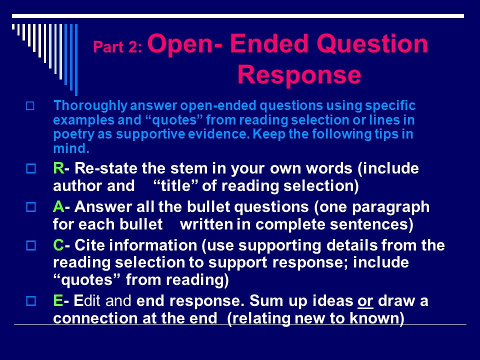 Model Open-Ended (format)  STEM- (re-state in own words; include Title and author)  Quantity, Not Quality examines the misuse/ overuse of technological advances.