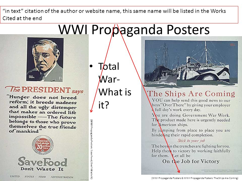 WWI Propaganda Posters Total War- What is it.