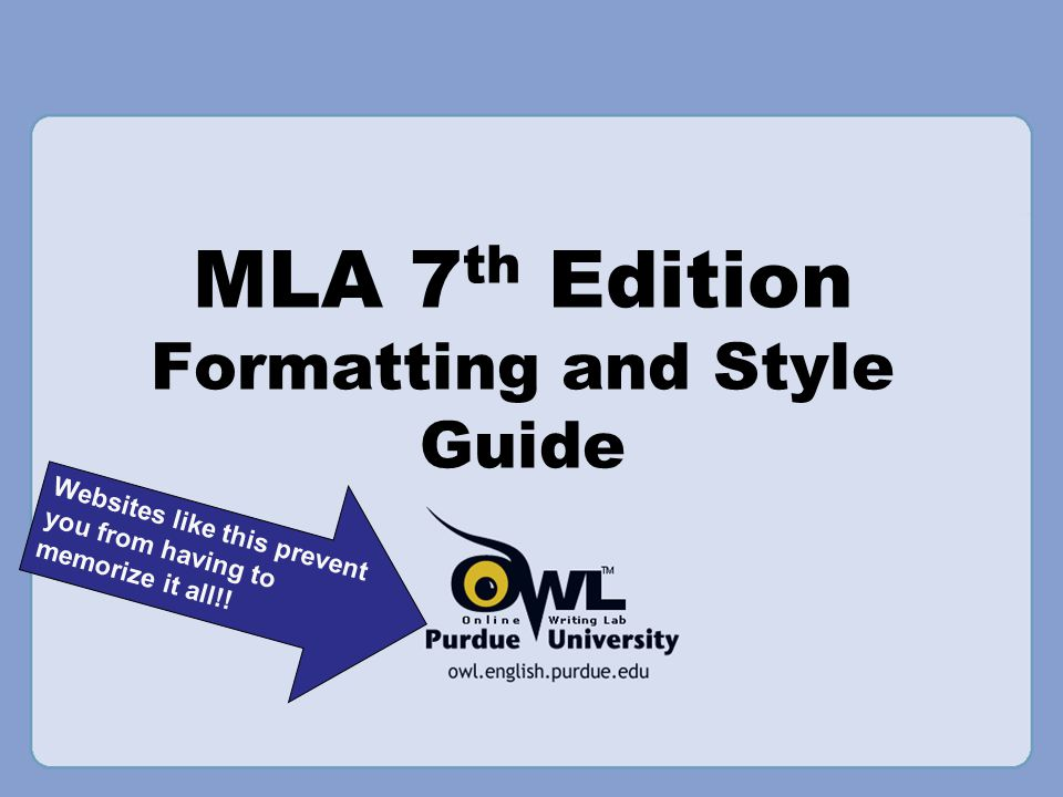 Overview  This presentation will cover: General MLA guidelines In-text citations (parenthetical and footnote) Formatting quotations Works Cited page Formatting your paper in MLA using Microsoft Word and/or Google Docs