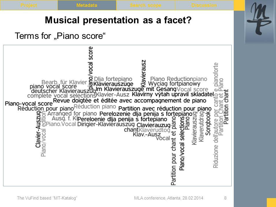 Musical presentation as a facet.