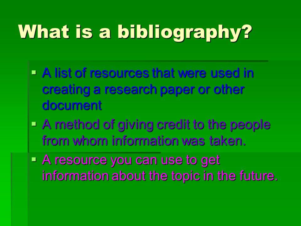 Creating a Bibliography Using MLA Documentation