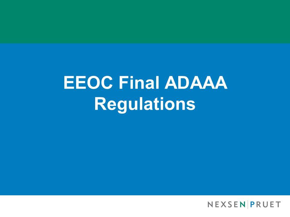 EEOC Final ADAAA Regulations