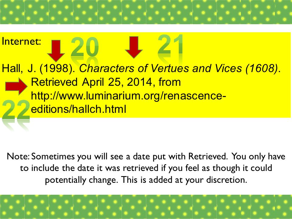 Internet: Hall, J. (1998). Characters of Vertues and Vices (1608).