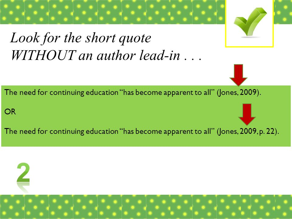 The need for continuing education has become apparent to all (Jones, 2009).