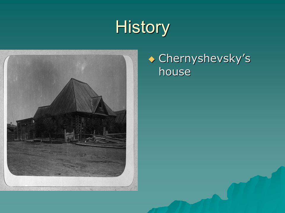 History  Chernyshevsky's house