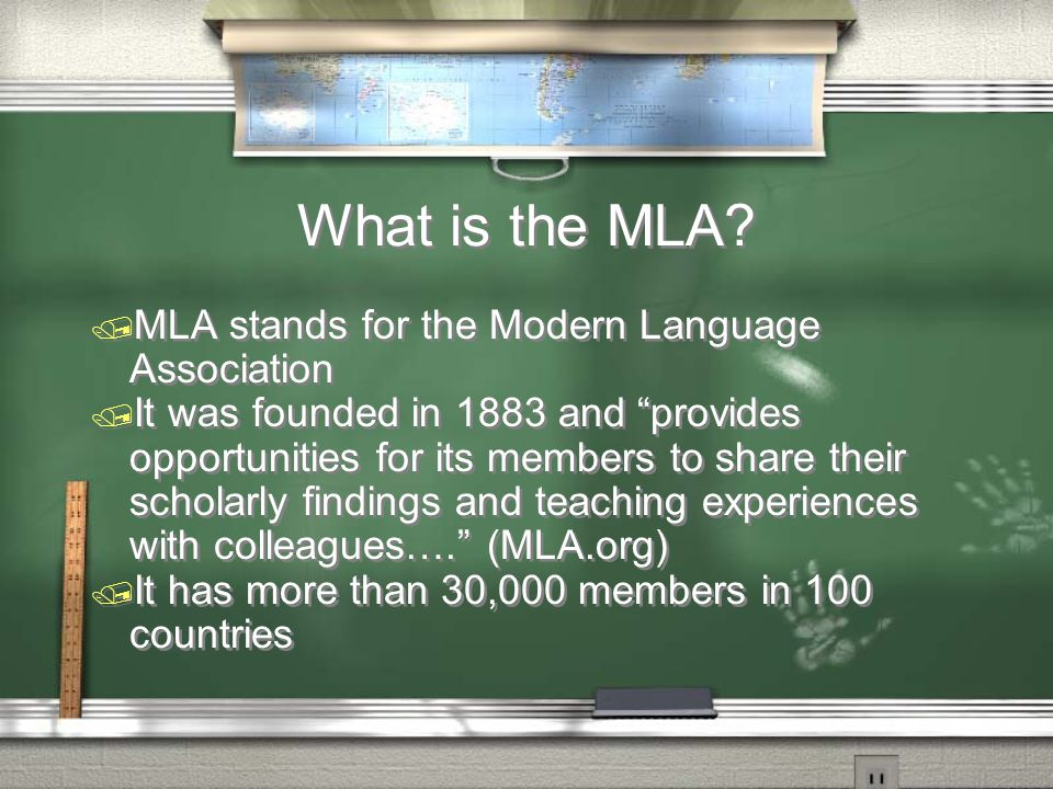 What is the MLA.