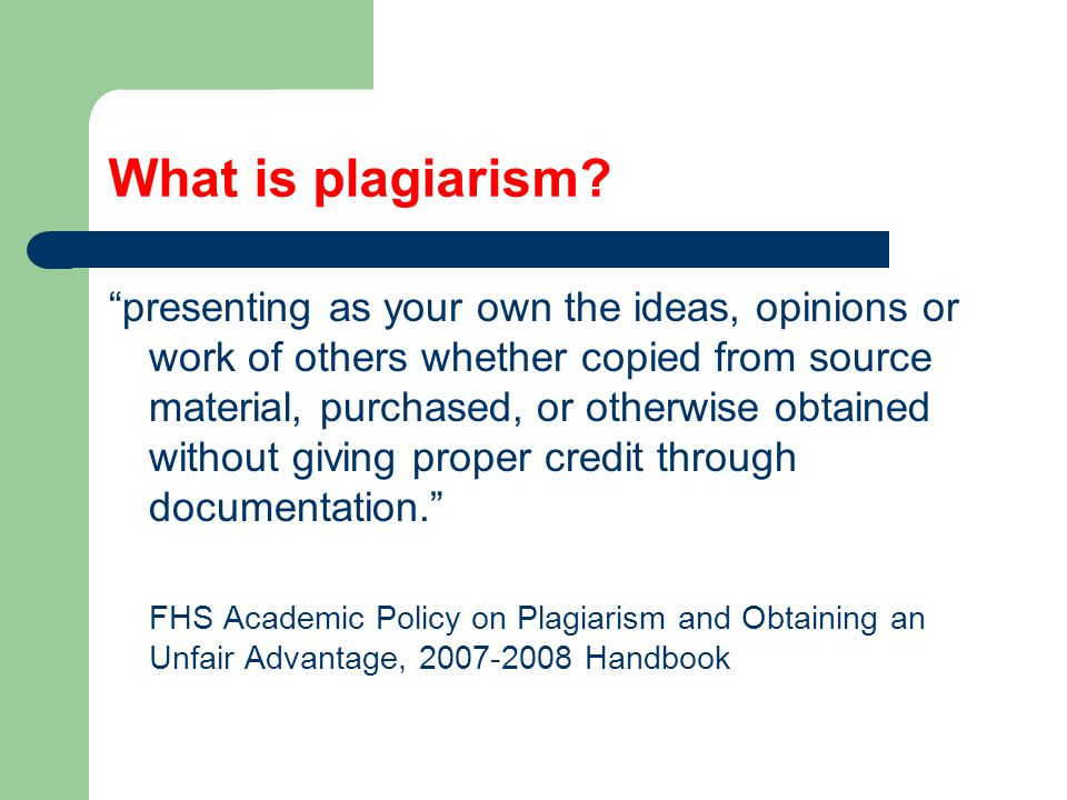 How do I avoid plagiarism.Do your own work.