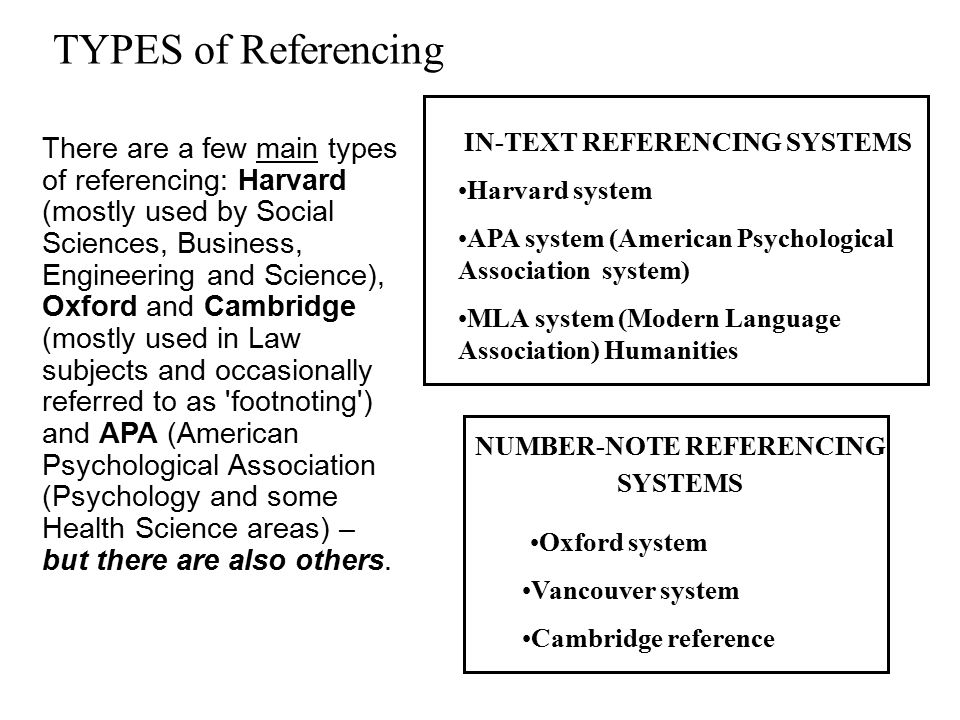 1.IN-TEXT REFERENCING SYSTEMS In text reference Davis and McKay (1996, p.112) note that it is important to be flexible about the system of referencing and adopt whichever style is appropriate.