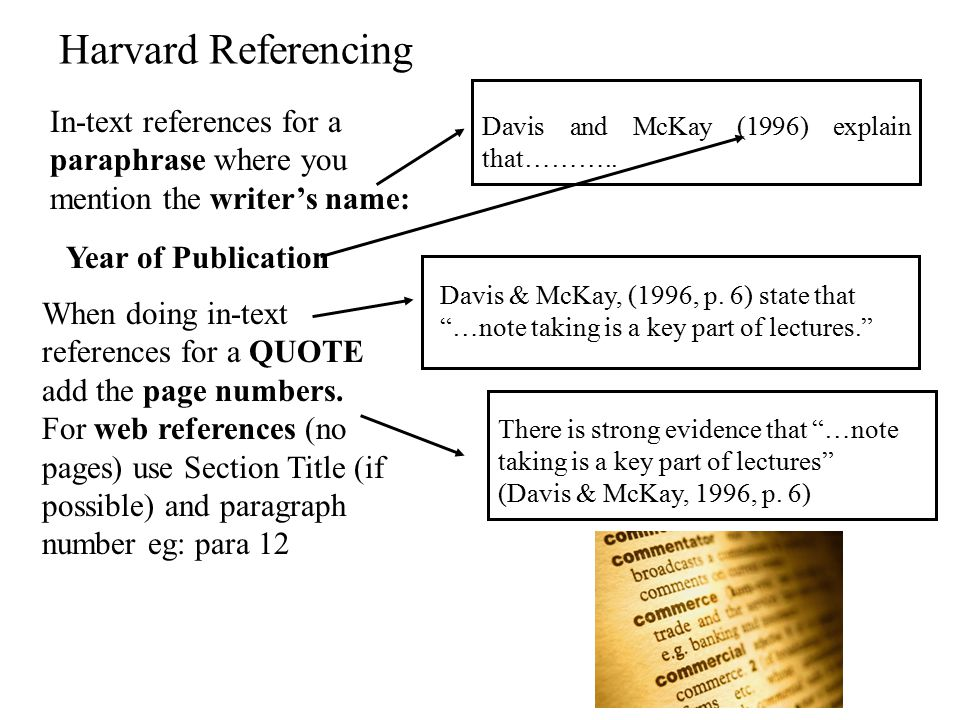 Referencing Protocol The marker/reader wants to know that: At La Trobe, we use the Harvard System of referencing.