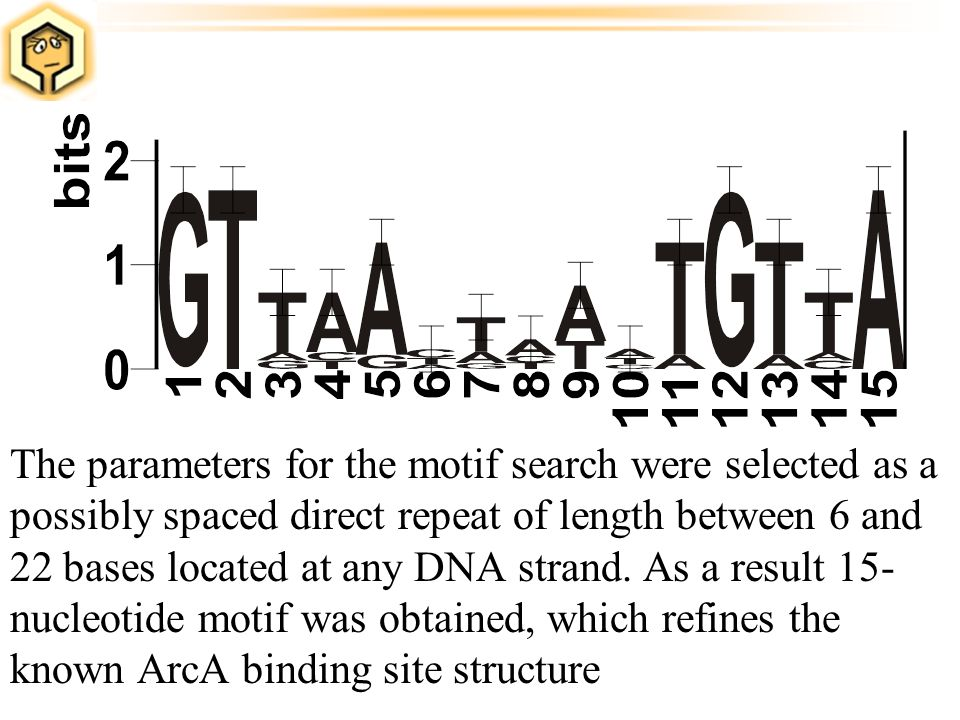 The parameters for the motif search were selected as a possibly spaced direct repeat of length between 6 and 22 bases located at any DNA strand. As a