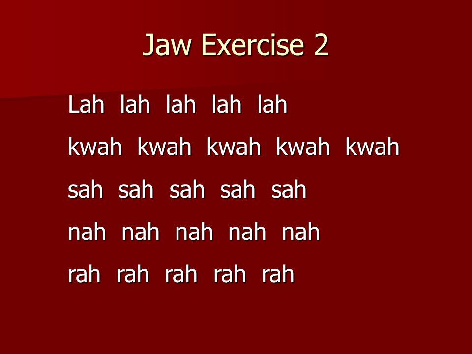 Jaw Exercise 3 sah say see so soo zah zay zee zo zoo kah kay kee ko koo gah gay gee go goo