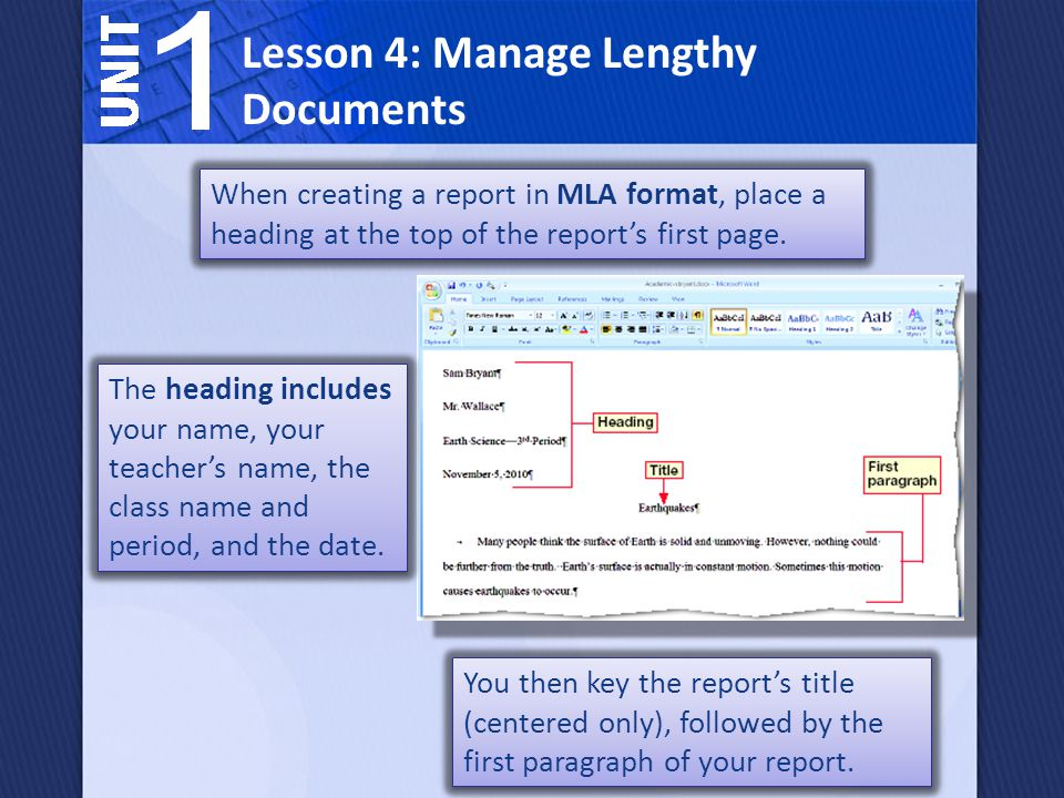 Headings, page numbers, and sections often change as you create and revise a document.