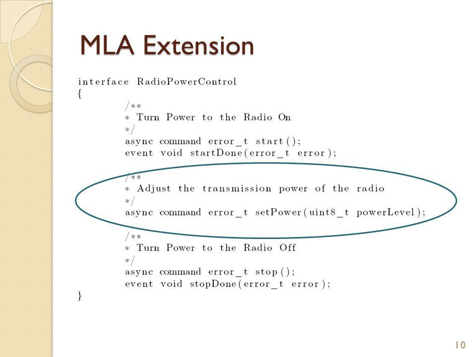 MLA Extension 10