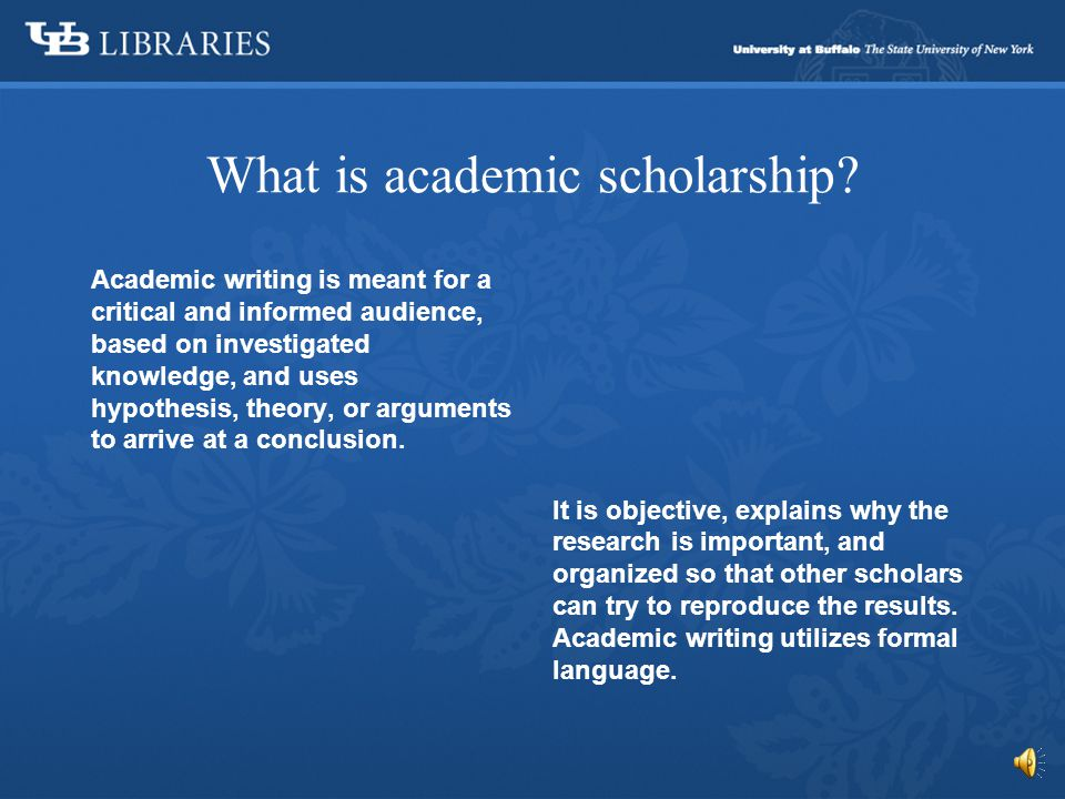 Academic Scholarship & Plagiarism A self-assessed tutorial
