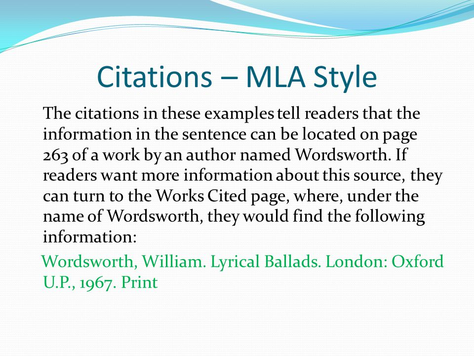 Citations – MLA Style Sources will be listed at the end of each on-line posting.