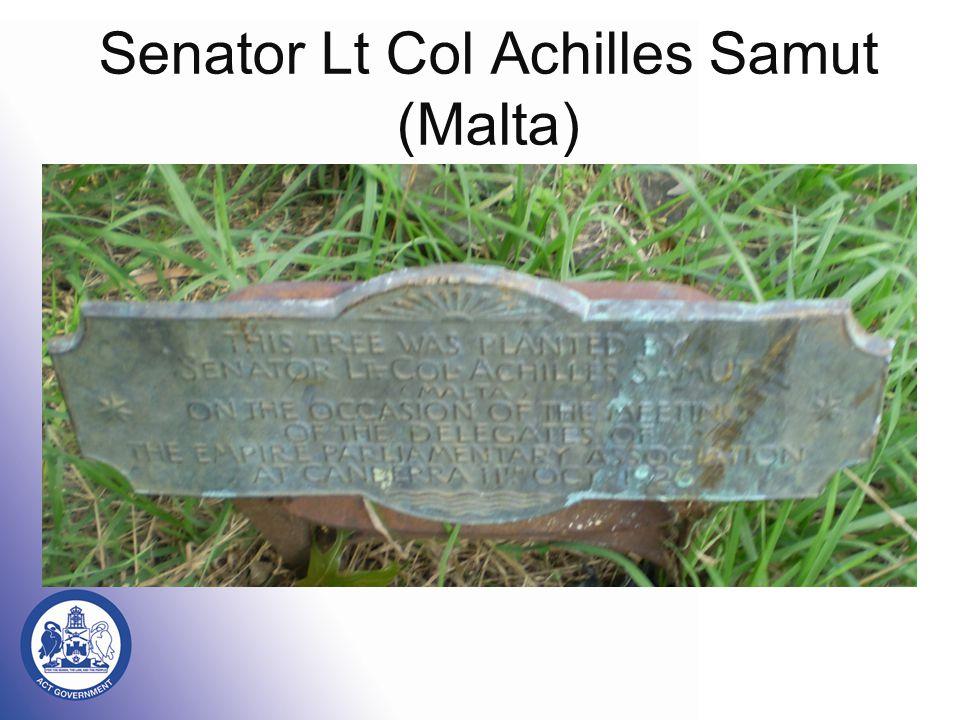 Senator Lt Col Achilles Samut (Malta)