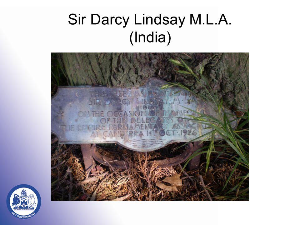 Sir Darcy Lindsay M.L.A. (India)