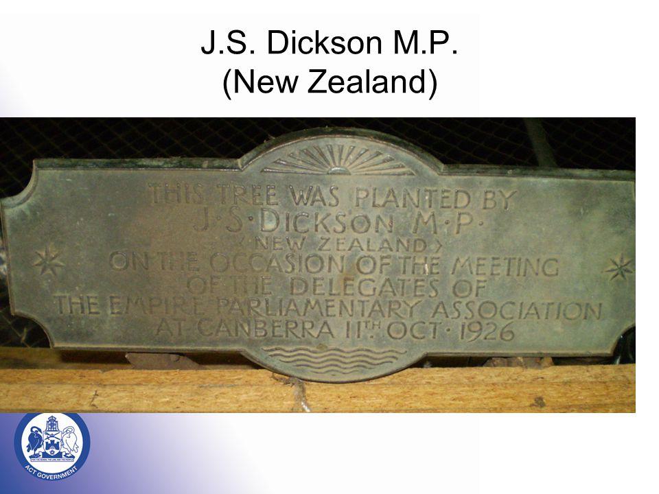 J.S. Dickson M.P. (New Zealand)