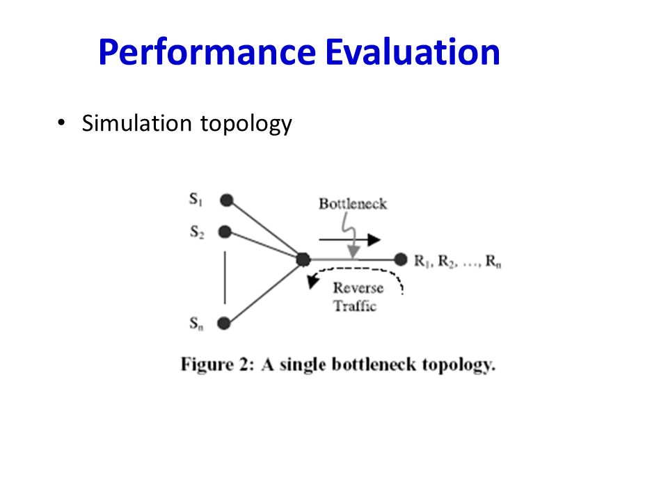 Performance Evaluation Simulation topology