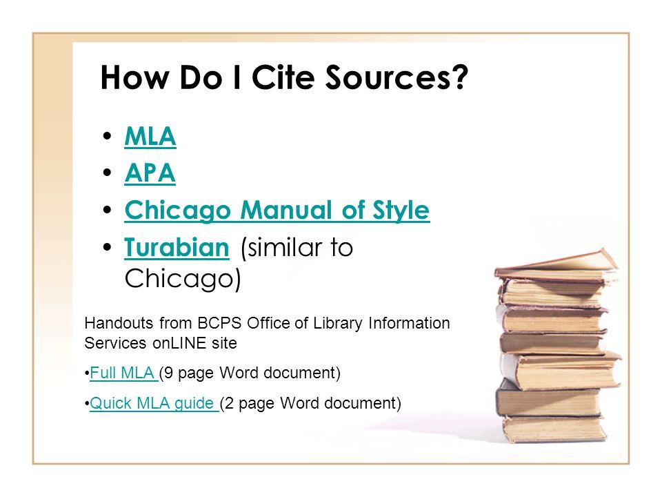 How Do I Cite Sources.