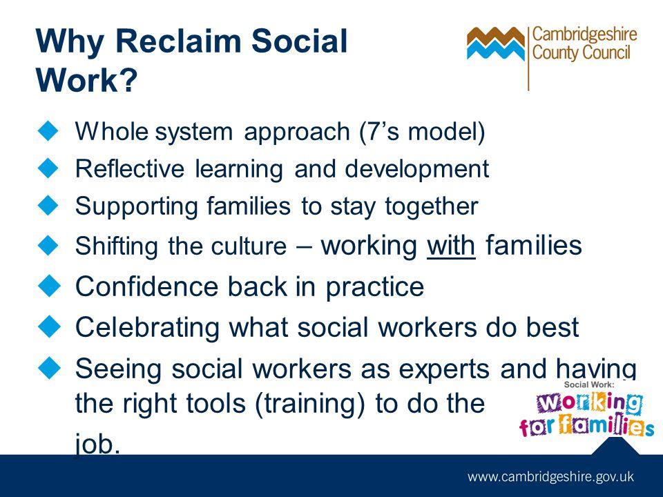 Why Reclaim Social Work.