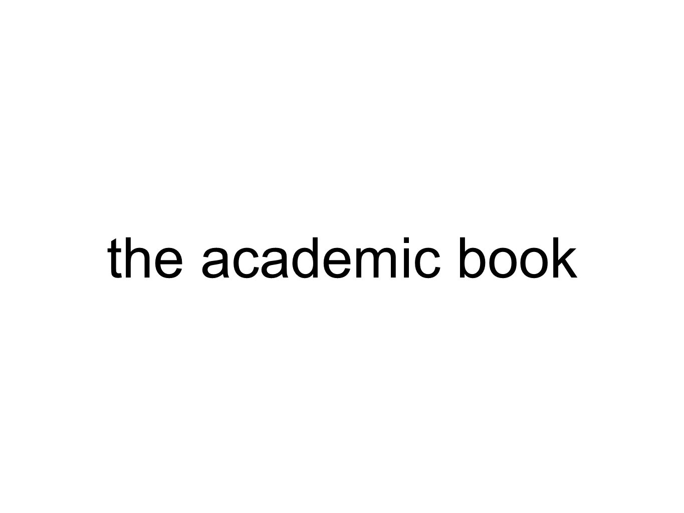 the academic book