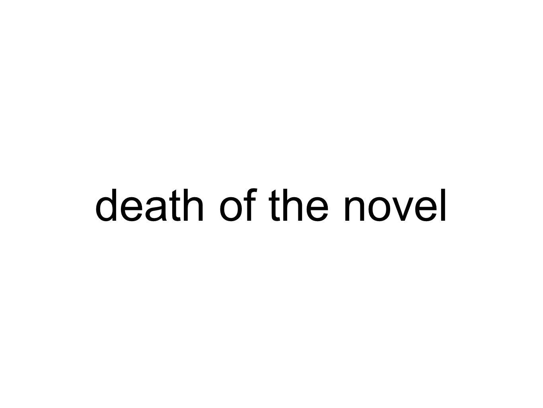 death of the novel