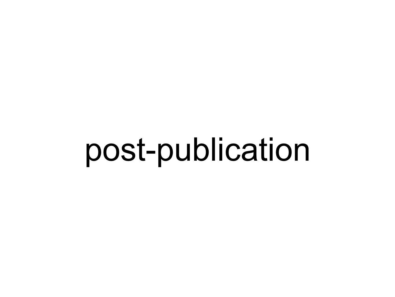 post-publication