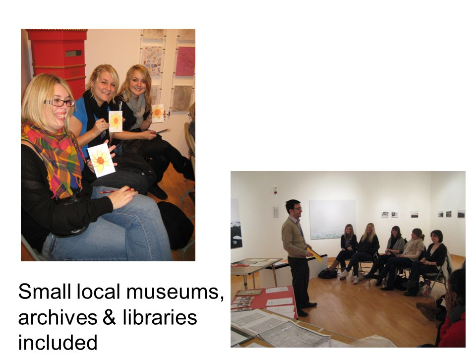 Small local museums, archives & libraries included