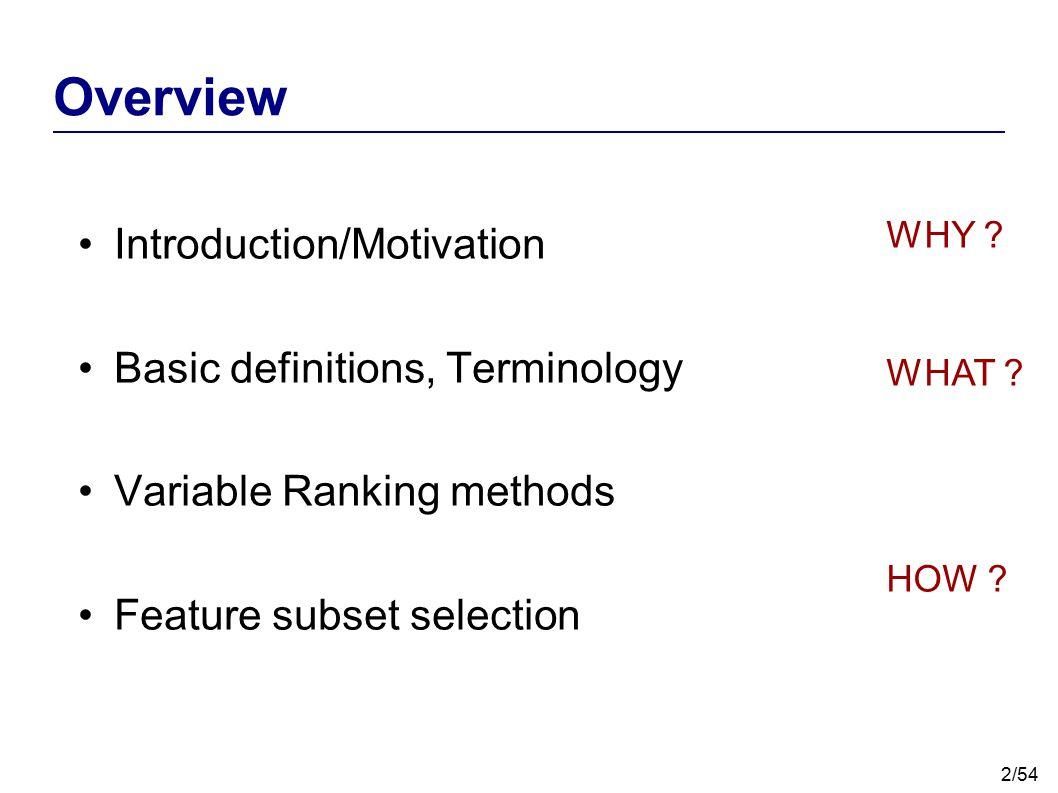 33/54 Ranking Criteria – Correlation