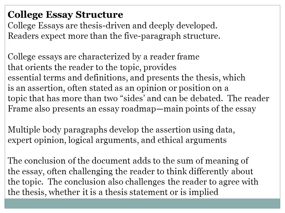 writing the college essay powerpoint An argumentative essay is a particular type of academic writing it requires students to develop and articulate a clear position on their respective research topic.