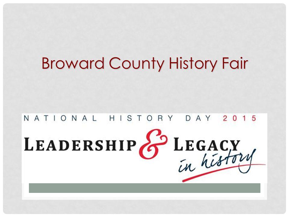 Broward County History Fair