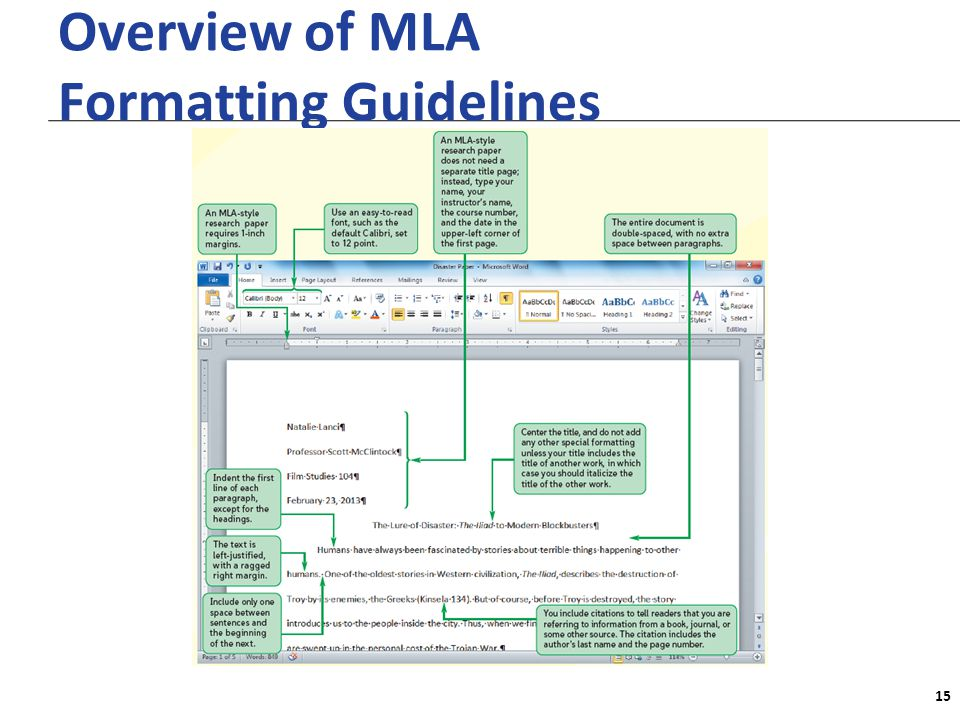 XP Overview of MLA Formatting Guidelines 15