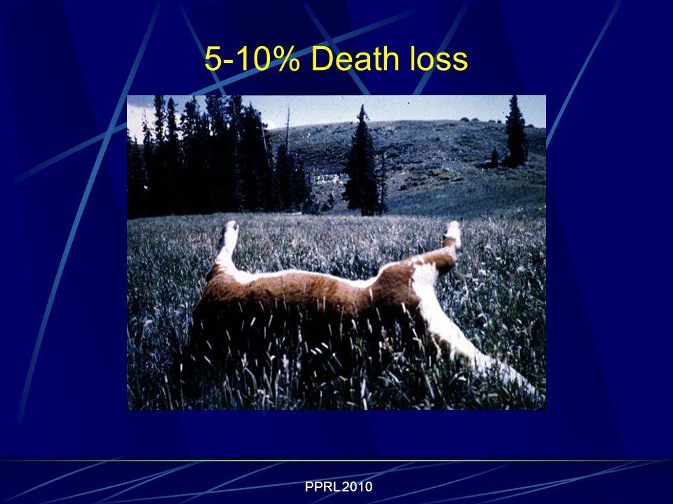 5-10% Death loss
