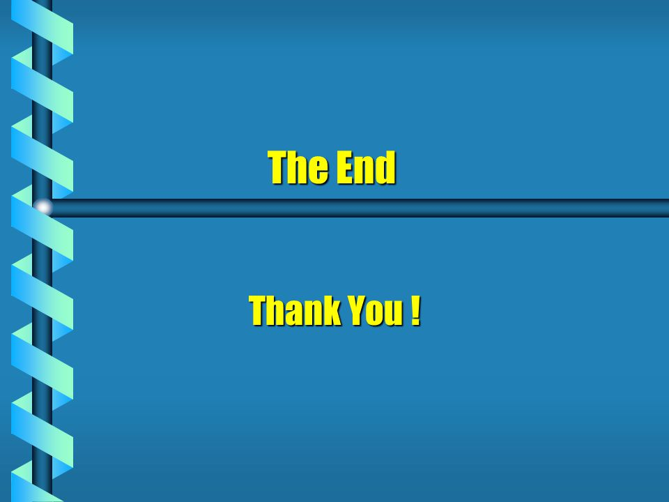 The End The End Thank You !