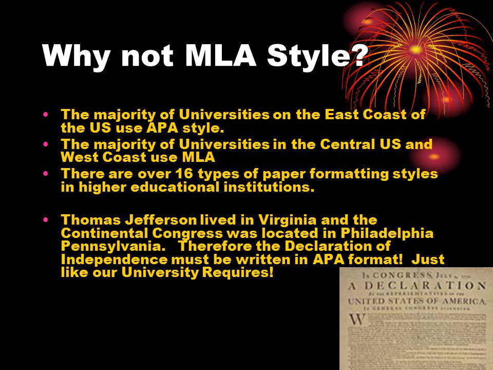 No-No Mr.Jefferson this is not in APA style.