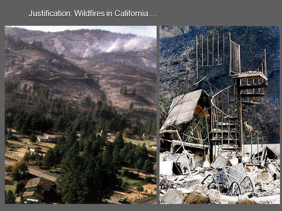 Justification: Wildfires in Arizona …