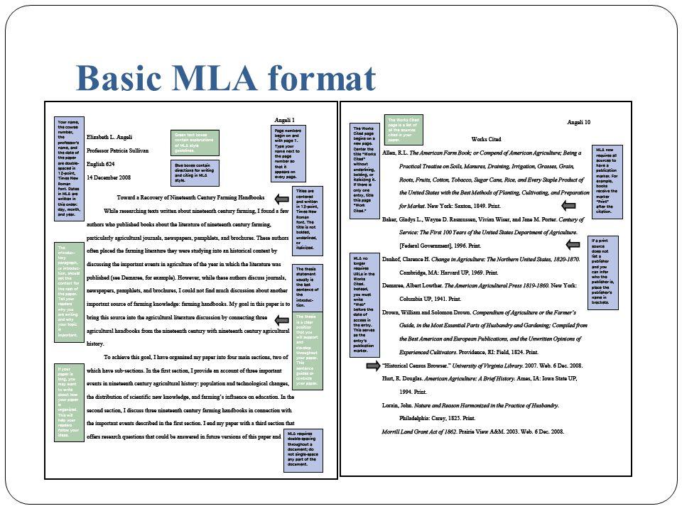 Basic MLA format