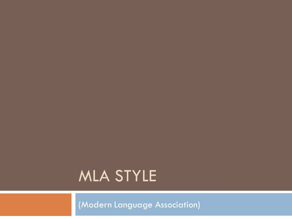 When do I use MLA. When you are citing a source in...