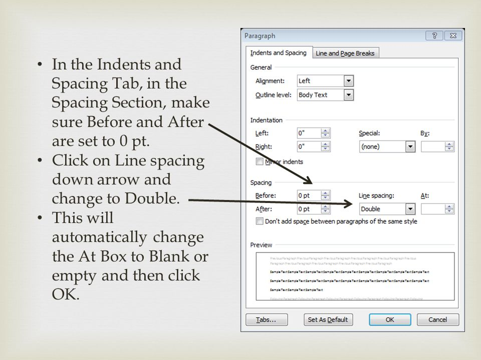 In the Indents and Spacing Tab, in the Spacing Section, make sure Before and After are set to 0 pt.