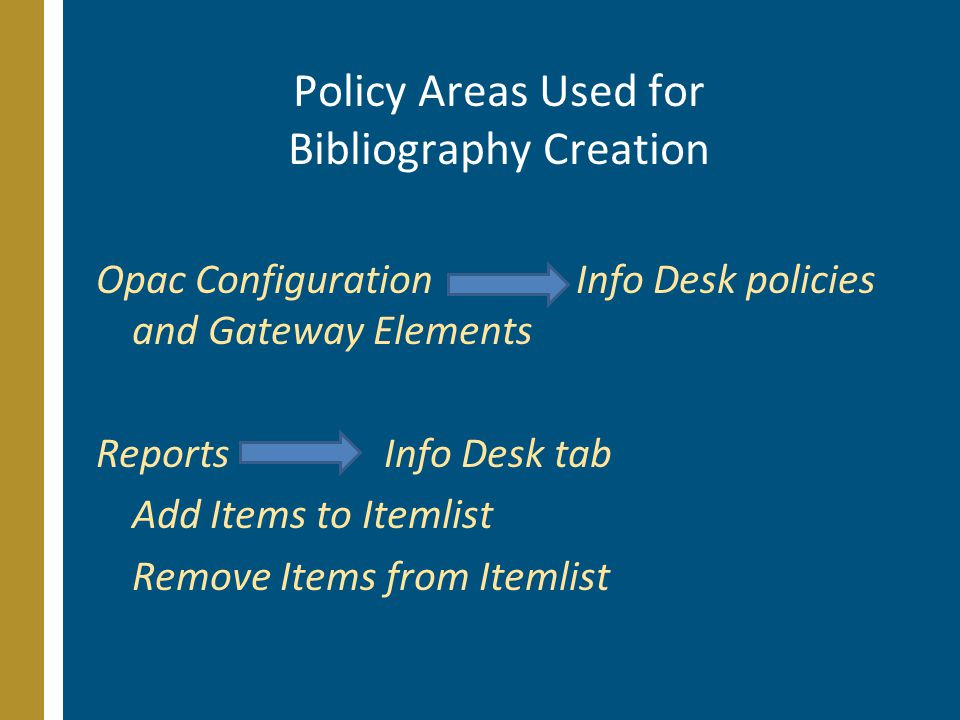 Opac Elements – Delivered Find It Fast Delivered pre-canned bibliographies.