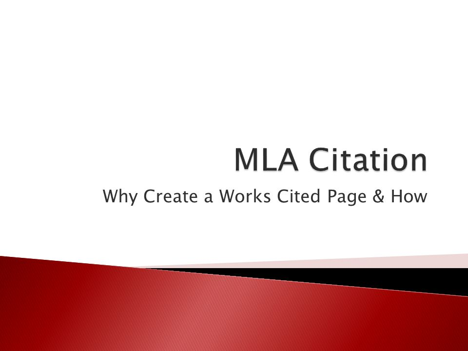 Why Create a Works Cited Page & How